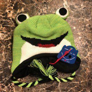 Kid's Frog Ear Flap Winter Hat NWT